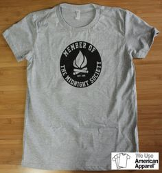 Are You Afraid of the Dark? Midnight Society Women's American Apparel Shirt