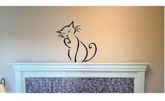 Cat Wall Decal  Sticker Large kids  kitty kittie cat animal