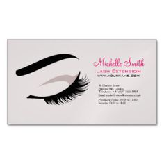 eye long lashes lash extension company branding magnetic business cards pack of - Lash Extension Business Cards