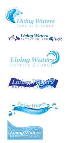 Living Waters Logo Draft Set
