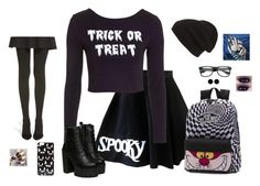 """Punk Halloween"" by hanakdudley ❤ liked on Polyvore featuring Topshop, Hue, Vans, Phase 3, ASOS and AeraVida"