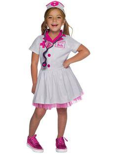 Do Not Twist or Wring. Doctor Costume, Nurse Costume, Child Nursing, Nursing Dress, Nurse Barbie, Pink Barbie, Doctor For Kids, Nurse Hat, Halloween Cosplay