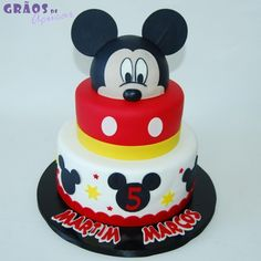 Mickey - Orelhas - Grãos de Açúcar - Bolos decorados - Cake Design