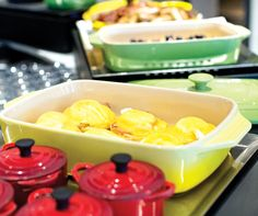 This could be your next breakfast buffet - Colourful Dutch ovens and casseroles at Yellow Door Bistro's buffet. Brunch Buffet, Breakfast Buffet, Yellow Doors, Dish Sets, The Dish, Calgary, Dutch Ovens, Fruit, Eat