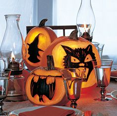 With the proper tools (available at art-supply stores), carving a pumpkin for printing is as easy as painting by numbers.