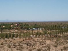 View of St. Anthony Monastery grounds from top of hill at St. Elias Chapel