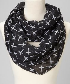 Take a look at this Black Cross Scarf by fantas-eyes on #zulily today!