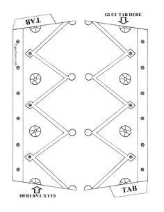 Korona króla - Papier Wycięcia przez PaperToys.com