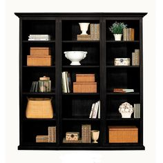 Tuscan Flush Bookcase Set - 3 Piece - traditional - bookcases cabinets and computer armoires - Ballard Designs Home Office Furniture, New Furniture, Furniture Design, Furniture Storage, Furniture Ideas, Bookshelf Styling, Bookcase Shelves, Storage Shelves, Black Bookshelf