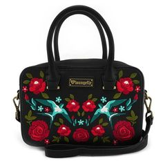 Looking for Loungefly Embroidered Sparrow Roses Tattoo Design Vegan Crossbody Bag Purse ? Check out our picks for the Loungefly Embroidered Sparrow Roses Tattoo Design Vegan Crossbody Bag Purse from the popular stores - all in one. Cheap Purses, Purses And Bags, Leather Satchel, Leather Backpack, Bag Quotes, Coin Bag, Womens Purses, Black Purses, Cross Body Handbags