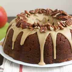 Apple Cream Cheese Cake with Walnuts