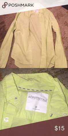 Button-Up Lime Green Aeropostale Shirt NWOT Button-Up Lime Green Aeropostale Shirt NWOT Aeropostale Shirts Casual Button Down Shirts