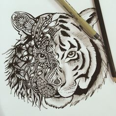 mizzou zentangle