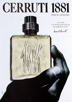 Advert of the perfume 1881 pour Homme by Nino Cerruti