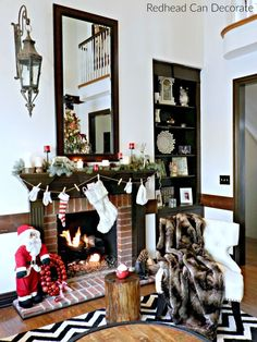 Christmas Mantel & Home Decorators Collection $500.00 Giveaway - Redhead Can Decorate