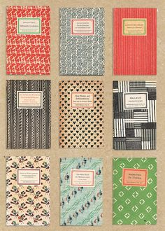 Vintage German book covers
