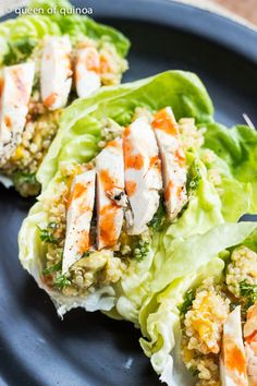 Tropical Quinoa Lettuce Wraps - Healthy Quinoa RecipesQueen of Quinoa | Gluten-free + Quinoa Recipes