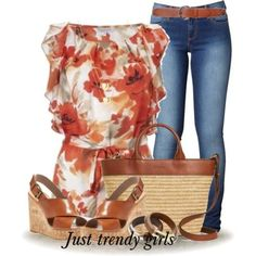 chiffon tunic with straw bag Cute casual outfits ideas http://www.justtrendygirls.com/cute-casual-outfits-ideas/