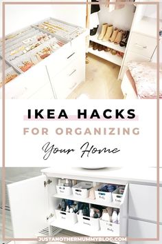 Organisation Ideas for the Home Is your house filled with clutter? If you're looking for organisation ideas for the home, click h Ikea Organisation, Wardrobe Organisation, Small Space Organization, Organization Ideas, Organize Small Spaces, Ikea Small Spaces, Dresser Drawer Organization, Diy Wardrobe, Small Wardrobe