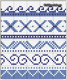 Cross Stitch Borders, Cross Stitch Patterns, Crochet Borders, Cross Stitching, Tapestry Crochet Patterns, Mosaic Patterns, Knitting Charts, Knitting Patterns, Bead Crochet Rope