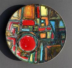 Tony Morris; Glazed Ceramic Dish for Poole, 1963.
