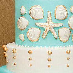 ocean themed  wedding cakes | Beach-themed Cakes | Wedding Cakes Photos | Brides.com