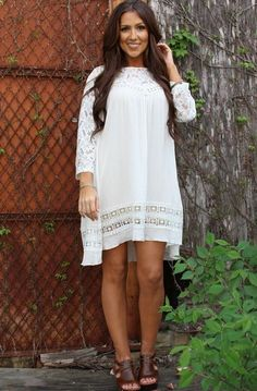 Summer Day Dress in Ivory Lace Stylish Loose fitting Tunic plus Size 3X #SCC #Tunic #Casual