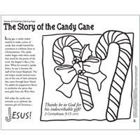 Candy Cane Poem and coloring page: Read the cute poem
