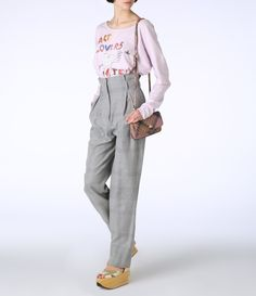Grey Melange Studio Trousers