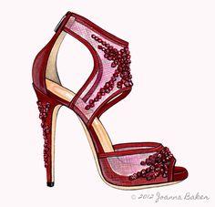 Garnet Beauty: Jimmy Choo for Bergdorf's