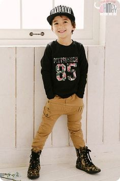 Eyelets Slim Slouchy Pants for unisex kids fashion at colormewhimsy fall season