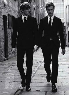 black and white groomsmen, very sharp