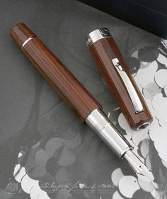Omas Cocobolo Wood Photo by Álvaro Romillo Fountain Pen Vintage, Fountain Pens, Liquid Ink, Best Pens, Dip Pen, Penmanship, Photo On Wood, Woodturning, Writing Instruments