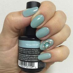 Pastel Nails using Artistic Colour Gloss Virtue available at Louella Belle Shellac Nail Colors, Gel Polish Colors, Shellac Nails, Manicure, Nail Colour, Artistic Colour Gloss, Uk Nails, Salon Services, Metallic Nails