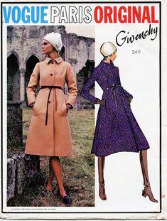6e67b2b9ceb7 VOGUE 2411 COAT PATTERN Givenchy Semi-Fitted Coat Vogue Paris Original Size  14 Bust 36 1970s Womens Sewing Patterns UNCuT +Label