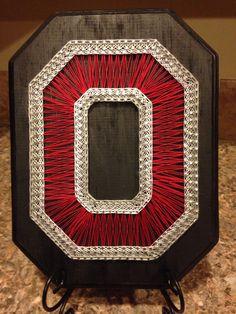 String Art Ohio State University Block O by my2heARTstrings