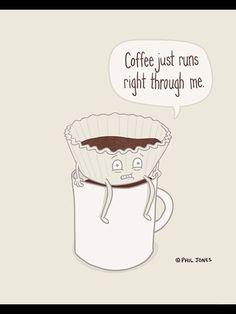 Coffee just runs right through me...