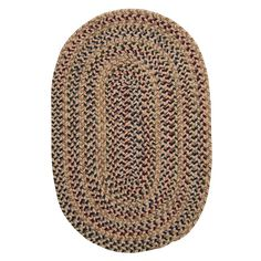 Home Decorators Collection Winchester Evergold 6 ft. x 9 ft. Oval Braided Area Rug-3353725530 - The Home Depot