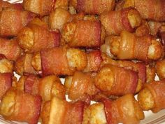 Bacon wrapped Tater Tots Man vs Food