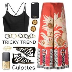 """Tricky Trend - Chic Culottes"" by lgb321 ❤ liked on Polyvore featuring Etro, Jimmy Choo, Kate Spade, NARS Cosmetics and Jona"