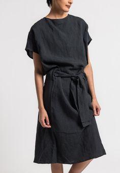 Toogood Ramie/Linen Cheesemonger Dress in Soot