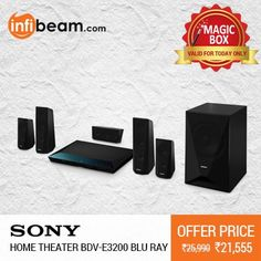 DEAL OF THE DAY !  Sony Home Theater BDV-E3200 Blu Ray at Lowest Rate from Infibeam's MagicBox !  #MagicBox #Deals #DealOfTheDay #Offer #Discount #LowestRates #Sony #HomeTheater #BluRay #SoundSystem #AudioSystem #HomeEntertainment #Speakers