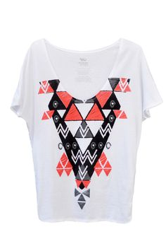 100% organic cotton and carbon neutral Textile Triangle Oversized Tee