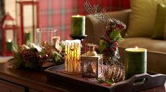For gifts and Christmas displays: Holiday Forest candles