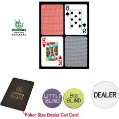 Trademark Poker Poker-Sized Plastic Playing Cards and Dealer Kit