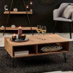 BRISTOL Table de salon brun H 40 x Long. 100 x P 60 cm | Spécialiste depuis 40 ans déjà | CASA