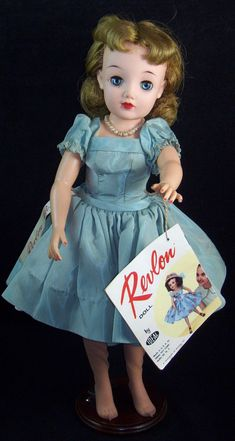 "Vintage Ideal Miss Revlon Doll VT 18"" Blonde Original Tagged Dress & Hangtag  #IDEAL #DollswithClothingAccessories"