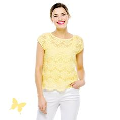 Daisy Yellow Embroidered Blouse in Daisy Yellow #rickis #spring2015 #summer2015