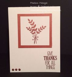 So Many Toys So Little Time...Stampin' Up! for All Things, Thanksgiving