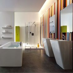 The Il Bagno Alessi dOt suite just screams designer style!